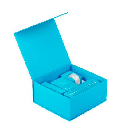 Up Giftbox Open Angle Brightblue