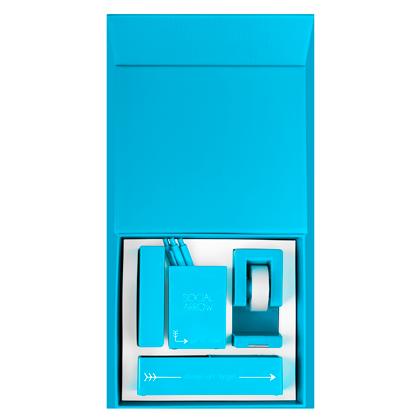 Up Giftbox Open Flat Brightblue