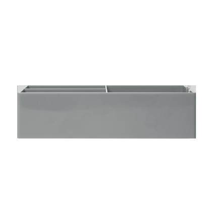 up-tray-gray-flat-blank