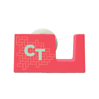 up-tape-web-neon-coral-flat-logo